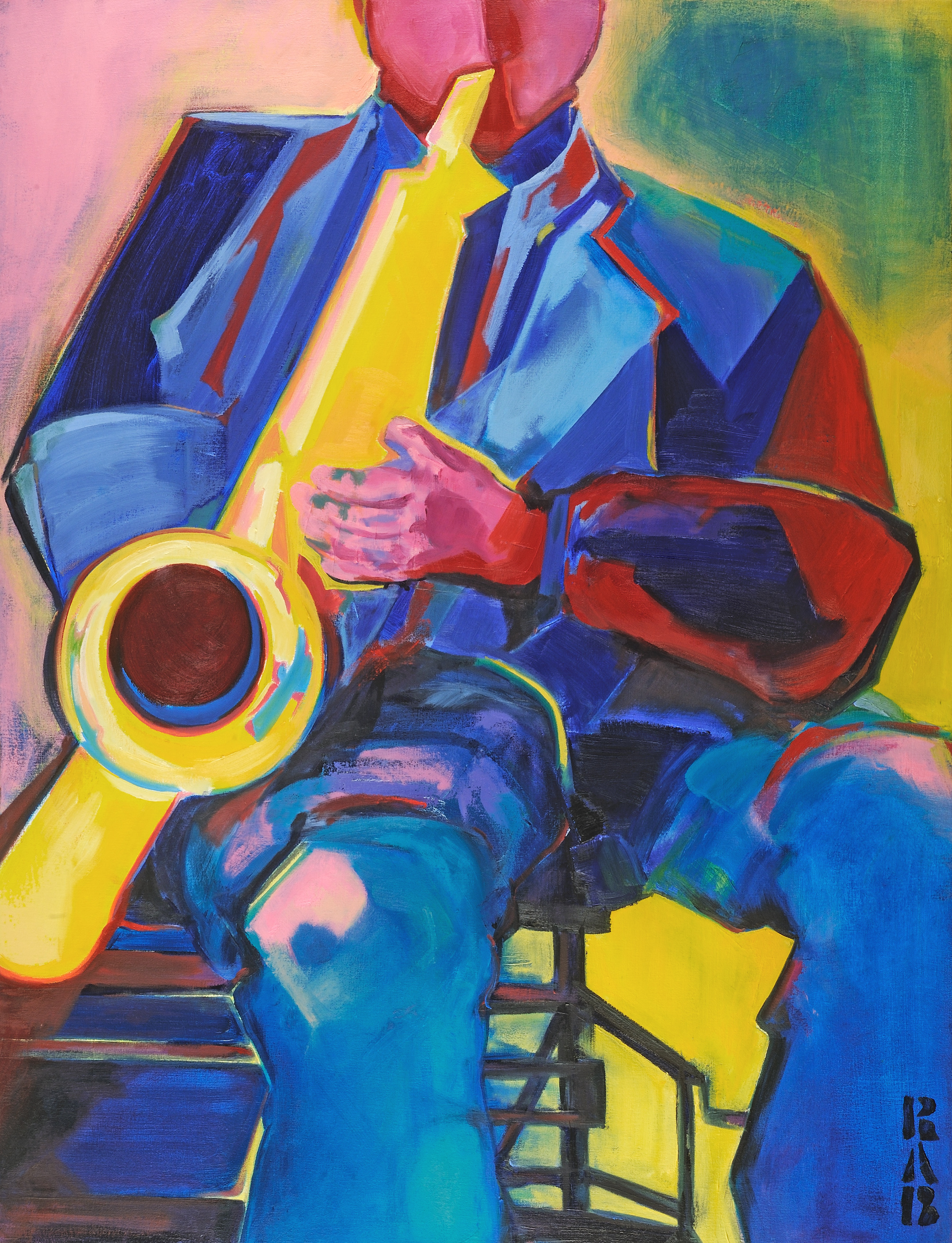 abstractionism, social abstractionist, jazz, music and art, oil painting, contemporary art, blues, expressionism, expressionist painting, rachael bohlander, r.a.b.