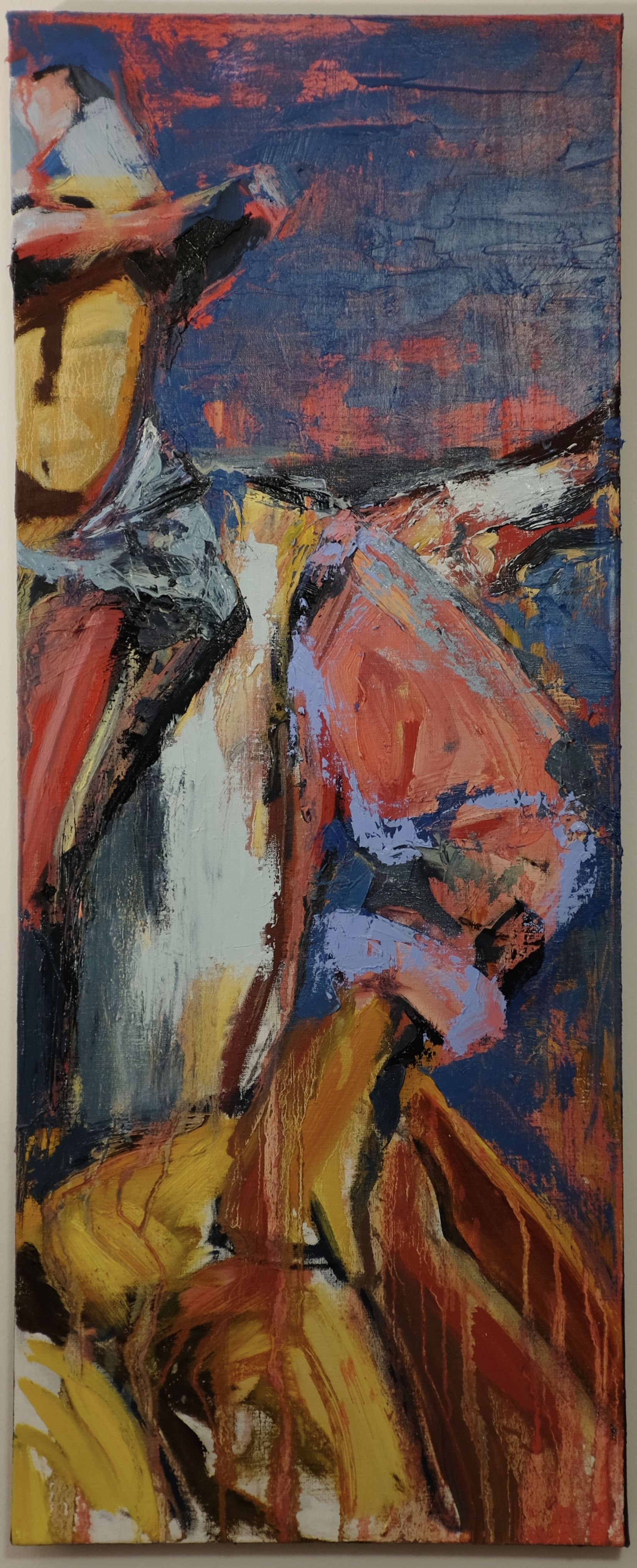 expressionism, cowboy, cowboy art, r.a.b., rachael bohlander, expressionist painting, abstractionism, abstractionist painting, portraiture